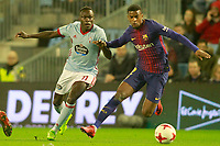Celta de Vigo's Pione Sisto (l) and FC Barcelona's Nelson Semedo during Spanish Kings Cup match. January 4,2018. (ALTERPHOTOS/Acero)