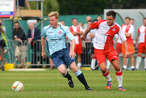 07.09.2014.  Poole, England. Charity match in aid of MND sufferer Andrew Culliford. Eddie Howe (AFC Bournemouth manager)