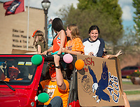 NWA Democrat-Gazette/BEN GOFF @NWABENGOFF<br /> Rogers Heritage High School holds their homecoming parade Friday, Oct. 5, 2018, through downtown Rogers. This year's parade had a 'Candyland' theme.