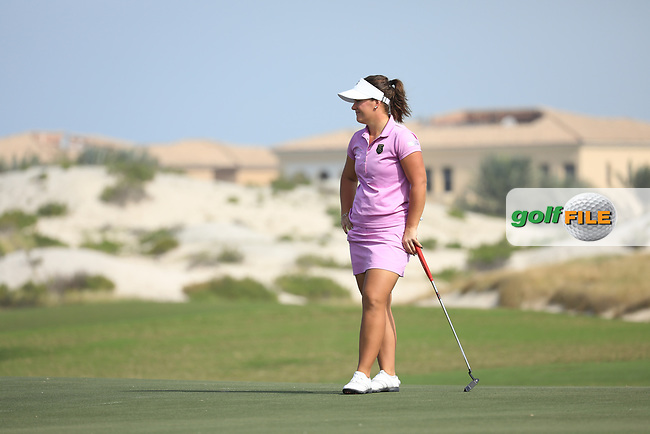 Lina Boqvist (SWE) during the first round of the Fatima Bint Mubarak Ladies Open played at Saadiyat Beach Golf Club, Abu Dhabi, UAE. 10/01/2019<br /> Picture: Golffile | Phil Inglis<br /> <br /> All photo usage must carry mandatory copyright credit (&copy; Golffile | Phil Inglis)
