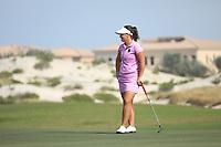 Lina Boqvist (SWE) during the first round of the Fatima Bint Mubarak Ladies Open played at Saadiyat Beach Golf Club, Abu Dhabi, UAE. 10/01/2019<br /> Picture: Golffile | Phil Inglis<br /> <br /> All photo usage must carry mandatory copyright credit (© Golffile | Phil Inglis)