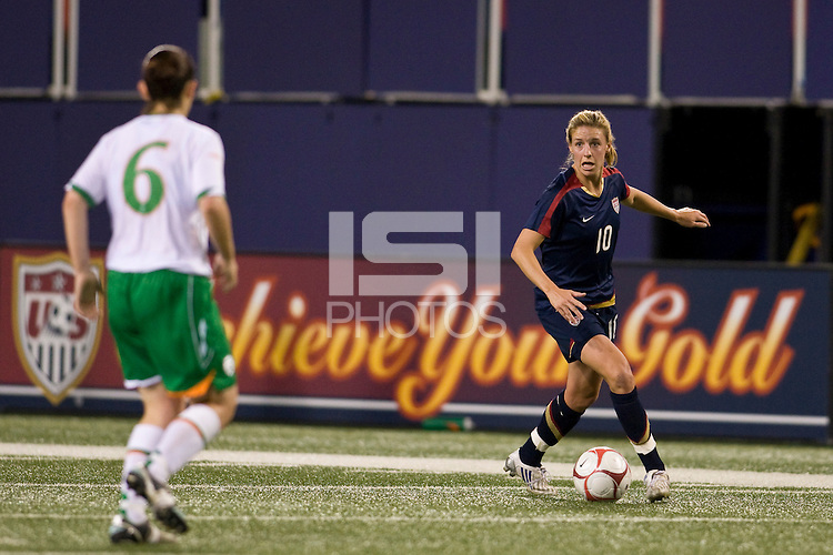 United States (USA) midfielder Aly Wagner (10). The women's national team of the United States (USA) defeated the Republic of Ireland (IRL) during an international friendly at Giants Stadium in East Rutherford, NJ on September 17, 2008. Photo by Howard C. Smith/isiphotos.com