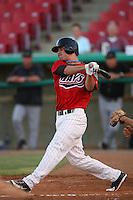 July 30 2008: Joe Simokaitis of the High Desert Mavericks bats against the Lake Elsinore Storm at Mavericks Stadium in Adelanto,CA.  Photo by Larry Goren/Four Seam Images