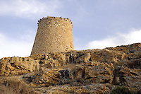 - Corsica, Ile Rousse, ancient Genoese watchtower<br /> <br /> - Corsica, Ile Rousse, antica torre di guardia genovese