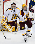 Jeff Frazee (Minnesota - 1), Jay Barriball (Minnesota - 26) - The University of Minnesota Golden Gophers defeated the University of Michigan Wolverines 4-3 in the Ice Breaker Tournament final on Saturday, October 13, 2007, at the Xcel Energy Center in St. Paul, Minnesota.