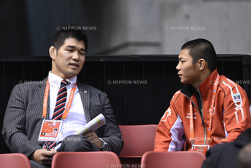 (L-R)  Kosei Inoue, Hifumi Abe (JPN), <br /> DECEMBER 6, 2014 - Judo : <br /> IJF Grand Slam Tokyo 2014 International Judo Tournament <br /> at Tokyo Metropolitan Gymnasium, Tokyo, Japan. <br /> (Photo by AFLO SPORT) [1220]
