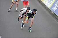 INLINE-SKATEN: STEENWIJK: Gagelsweg (start/finish), Schansweg, Meppelerweg, KPN Inline Cup, Klim van Steenwijk, 02-05-2012, Kwak ki Dong (#536), Bart Swings (#61), ©foto Martin de Jong