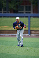 Mario Zabala (58) during the Under Armour All-America Game Practice, powered by Baseball Factory, on July 21, 2019 at Les Miller Field in Chicago, Illinois.  Mario Zabala attends International Baseball Academy in San Juan, Puerto Rico and is committed to Florida International University.  (Mike Janes/Four Seam Images)