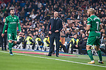 Real Madrid coach Zinedine Zidane and Leganes XXX during King's Cup match between Real Madrid and Leganes at Santiago Bernabeu Stadium in Madrid, Spain. January 24, 2018. (ALTERPHOTOS/Borja B.Hojas)