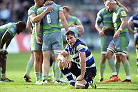 Francois Louw of Bath Rugby looks dejected after the match. Aviva Premiership match, between Bath Rugby and Newcastle Falcons on September 23, 2017 at the Recreation Ground in Bath, England. Photo by: Patrick Khachfe / Onside Images