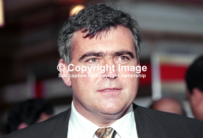 Dr Lewis Moonie, MP, Labour Party, UK, 19901004008.<br /> <br /> Copyright Image from Victor Patterson, 54 Dorchester Park, <br /> Belfast, UK, BT9 6RJ<br /> <br /> t1: +44 28 9066 1296 (from Rep of Ireland 048 9066 1296)<br /> t2: +44 28 9002 2446 (from Rep of Ireland 048 9002 2446)<br /> m: +44 7802 353836<br /> <br /> e: victorpatterson@me.com<br /> www.victorpatterson.com<br /> <br /> Please see my Terms and Conditions of Use at www.victorpatterson.com. It is IMPORTANT that you familiarise yourself with them.<br /> <br /> Images used on the Internet must be visibly watermarked i.e. &copy; Victor Patterson<br /> within the body of the image and copyright metadata must not be deleted. Images <br /> used on the Internet have a size restriction of 4kbs and will be chargeable at current<br />  NUJ rates unless agreed otherwise.<br /> <br /> This image is only available for the use of the download recipient i.e. television station, newspaper, magazine, book publisher, etc, and must not be passed on to any third <br /> party. It is also downloaded on condition that each and every usage is notified within 7 days to victorpatterson@me.com<br /> <br /> The right of Victor Patterson to be identified as the author is asserted in accordance with The Copyright Designs And Patents Act (1988). All moral rights are asserted
