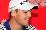Defending Champion, Martin Kaymer, being speaking at press conference during practice day of the Abu Dhabi HSBC Golf Championship, 19th January 2011..(Picture Eoin Clarke/www.golffile.ie)