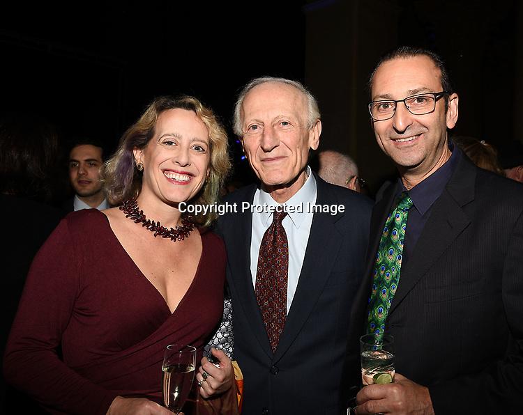 Dr Richard Soghoian, Kathryn Kornblau and husband Matt Susskind attend the Columbia Grammar & Prep School 2017 Benefit on March 8, 2017 at Cipriani Wall Street in New York, New York.