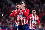 Atletico de Madrid Jose Maria Gimenez celebrating a goal during return match of King's Cup between Atletico de Madrid and Elche CF at Wanda Metropolitano Stadium in Madrid, Spain. November 29, 2017. (ALTERPHOTOS/Borja B.Hojas)