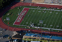 aerial photograph football game Foothill College Los Altos Hills, California