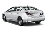 Car pictures of rear three quarter view of a 2014 Honda Civic Hybrid Hybrid CVT 4 Door Sedan Angular Rear