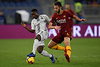Kwadwo Asamoah of Internazionale and Bryan Cristante of AS Roma compete for the ball during the Serie A 2018/2019 football match between AS Roma and FC Internazionale at stadio Olimpico, Roma, December, 2, 2018 <br />  Foto Andrea Staccioli / Insidefoto
