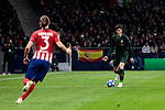 Atletico de Madrid's Filipe Luis and AS Monaco's Giulian Biancone during UEFA Champions League match between Atletico de Madrid and AS Monaco at Wanda Metropolitano Stadium in Madrid, Spain. November 28, 2018. (ALTERPHOTOS/A. Perez Meca)