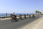 The peloton leave the coast and head for Granada after the start of Stage 4 of the La Vuelta 2018, running 162km from Velez-Malaga to Alfacar, Sierra de la Alfaguara, Andalucia, Spain. 28th August 2018.<br /> Picture: Ann Clarke   Cyclefile<br /> <br /> <br /> All photos usage must carry mandatory copyright credit (&copy; Cyclefile   Ann Clarke)
