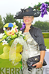 Lora Beth Malloy from Oklahoma who was named queen of fashion at Killarney races ladies day on Thursday.
