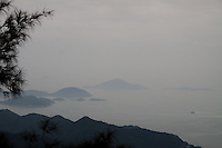 View from Lantau North Country Park Ngong Ping 360, island off Hong Kong