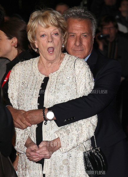 Dame Maggie Smith and Dustin Hoffman arriving for the 56th BFI London Film Festival: Quartet - American Airlines gala held at the Odeon Leicester Square, London. 15/10/2012 Picture by: Alexandra Glen / Featureflash