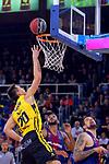 League ACB-ENDESA 2017/2018 - Game: 11.<br /> FC Barcelona Lassa vs Iberostar Tenerife: 91-93.<br /> Mateusz Ponitka vs Adrien Moerman.
