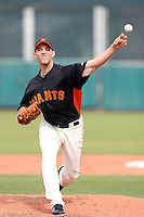 Madison Bumgarner #40 of the San Francisco Giants pitches against the Arizona Diamondbacks in the first spring training game of the season at Scottsdale Stadium on February 25, 2011  in Scottsdale, Arizona. .Photo by:  Bill Mitchell/Four Seam Images.
