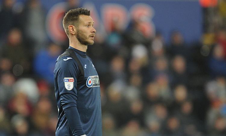 Swansea City's Erwin Mulder<br /> <br /> Photographer Kevin Barnes/CameraSport<br /> <br /> The EFL Sky Bet Championship - Swansea City v West Bromwich Albion - Wednesday 28th November 2018 - Liberty Stadium - Swansea<br /> <br /> World Copyright &copy; 2018 CameraSport. All rights reserved. 43 Linden Ave. Countesthorpe. Leicester. England. LE8 5PG - Tel: +44 (0) 116 277 4147 - admin@camerasport.com - www.camerasport.com