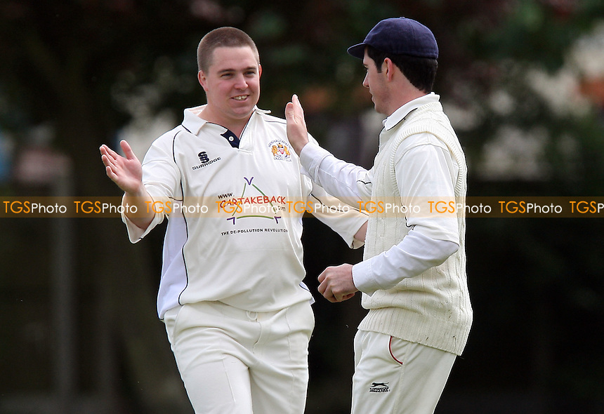 Hornchurch Ath celebrate the wicket of D Baptiste - Hornchurch Athletic CC vs Hawks CC - Lords International Cricket League at Hylands Park - 16/05/09 - MANDATORY CREDIT: Gavin Ellis/TGSPHOTO - Self billing applies where appropriate - 0845 094 6026 - contact@tgsphoto.co.uk - NO UNPAID USE.