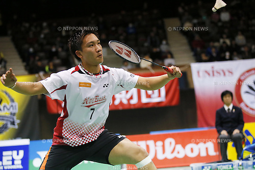 Kento Momota, DECEMBER 7, 2014 - Badminton : The 68th All Japan Badminton Championships 2014, Men's Singles final at Yoyogi 2nd Gymnasium, Tokyo, Japan. (Photo by Yusuke Nakanishi/AFLO SPORT)