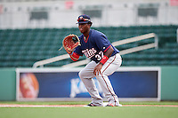 Minnesota Twins first baseman Lewin Diaz (37) during an Instructional League game against the Boston Red Sox on September 23, 2016 at JetBlue Park at Fenway South in Fort Myers, Florida.  (Mike Janes/Four Seam Images)