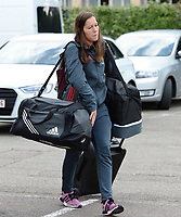20170725 - TILBURG , NETHERLANDS :  Belgian Elien Van Wynendaele pictured going back to Belgium as the Belgian national women's soccer team Red Flames was not able to qualify for the quarter finals after a loss against The Netherlands , on Tuesday 25 July 2017 in Tilburg . The Red Flames finished on 3 th place in Group A at the Women's European Championship 2017 in the Netherlands. PHOTO SPORTPIX.BE | DAVID CATRY