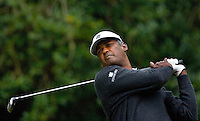 PGA golfer Vijay Singh watches his tee shot during the 2007 Wachovia Championships at Quail Hollow Country Club in Charlotte, NC.