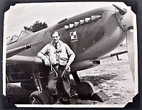 BNPS.co.uk (01202 558833)<br />Pic: C&T/BNPS<br /><br />Flt Lt Lipkowski in front of his Spitfire - he was initially thought to be to tall to fit into the famous Fighter but proved his doubters wrong.<br /> <br /> A fascinating photo album has sold for £1200 at auction - the previously unseen photographs chart the wartime career of Polish aristocrat Antoni Lipkowski -revealing how the emigree from Nazi Europe became a fighter pilot in the RAF.<br /> <br /> Flight Lieutenant Antoni Lipkowski escaped Poland when Germany invaded in 1939 and was desperate to join in the fight against the Nazis.<br /> <br /> Previously a cavalry officer, he retrained as a pilot and joined one of the Polish squadrons based in Britain which did such sterling work defending these skies in World War Two.<br /> <br /> Flt Lt Lipkowski, of 316 Polish Fighter Squadron, was very tall for a pilot and turned heads with his 'handsome' appearance.<br /> <br /> There are images of him in the cockpit of his Spitfire and posing nonchalantly in front of it with a cigarette in his hand.