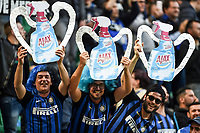 Inter supporters show a famous detergent named Ajax <br /> Milano 27-04-2019 Stadio Giuseppe Meazza <br /> Football Serie A 2018/2019 FC Internazionale - Juventus FC <br /> photo Image Sport / Insidefoto