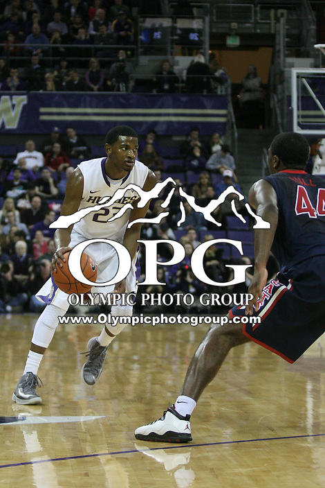 Jan 31, 2013:  Washington's C.J. Wilcox against Arizona.  Arizona defeated Washington 57-53 at Alaska Airlines Arena Seattle, Washington...
