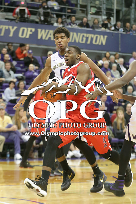 DEC 22, 2015:  Seattle University's William Powell against Washington. Washington defeated Seattle University 79-68 at Alaska Airlines Arena in Seattle, WA.