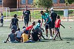 08.01.2019, Safe-Hub Diepsloot, Johannesburg, RSA, TL Werder Bremen Johannesburg Tag 06<br /> <br /> im Bild / picture shows <br /> Jean Manuel Mbom (Werder Bremen #34), <br /> beim Besuch des Safe-Hub Diepsloot, Johannesburg im Rahmen des Trainingslagers in Südafrika, <br /> <br /> ** Attention * ** Attention * <br /> Only to be used for the purpose of documenting the Safe-Hub visit on 08 January 2019<br /> <br /> Foto © nordphoto / Ewert