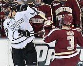 Shane Luke (PC - 20), Patch Alber (BC - 3) - The Providence College Friars tied the visiting Boston College Eagles 3-3 on Friday, December 7, 2012, at Schneider Arena in Providence, Rhode Island.