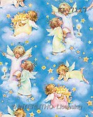 Interlitho, CHRISTMAS SANTA, SNOWMAN, gift wraps, paintings, angels, stars, clouds(KL7117,#X#,#GP#)