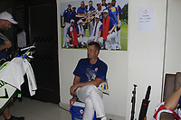 Henrik Stenson in the team room after Team Europe overcame Asia 14/10 to win the Eurasia Cup at Glenmarie Golf and Country Club on the Sunday 14th January 2018.<br /> Picture:  Thos Caffrey / www.golffile.ie