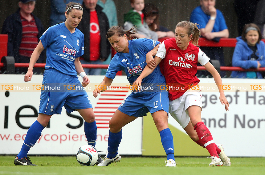 Gemma Davison of Arsenal and Rachel Unitt of Birmingham - Arsenal Ladies versus Birmingham City Ladies, Women's Super League at Boreham Wood FC - 24/06/12 - MANDATORY CREDIT: Rob Newell/TGSPHOTO - Self billing applies where appropriate - 0845 094 6026 - contact@tgsphoto.co.uk - NO UNPAID USE..