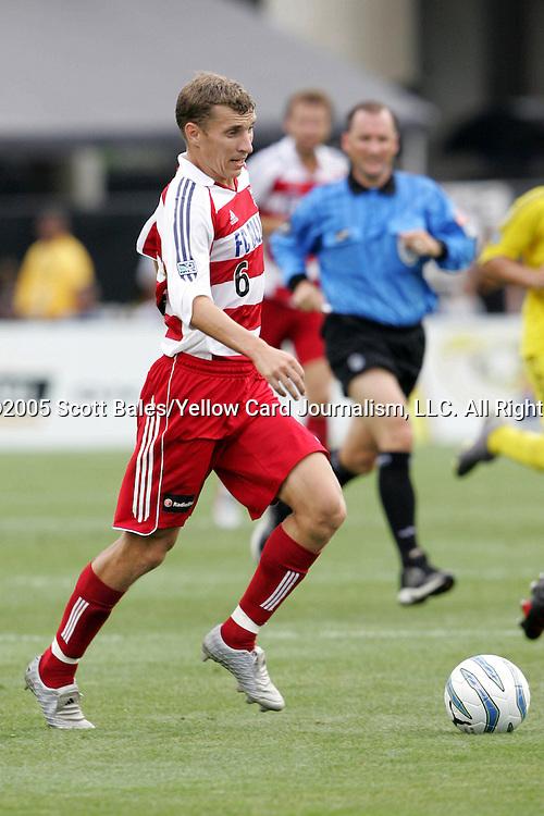 20 August 2005: Dallas's Ronnie O'Brien. The Columbus Crew defeated FC Dallas 1-0 at Columbus Crew Stadium in Columbus, Ohio in a Major League Soccer Regular Season Match.