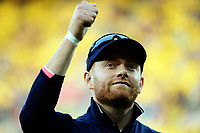 England's Jonny Bairstow gives the thumbs up to fans during the One Day International cricket match between the New Zealand Black Caps and England at the Westpac Stadium in Wellington, New Zealand on Friday, 2 March 2018. Photo: Dave Lintott / lintottphoto.co.nz
