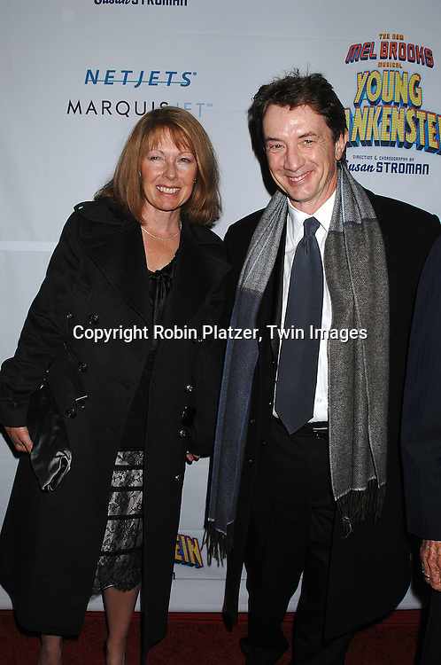 "Nancy and Martin Short..arriving at The Broadway Opening Night of The New Mel Brooks Musical ""Young Frankenstein"" on November 8, 2007 at The Hilton Theatre in New York. ..Robin Platzer, Twin Images....212-935-0770"