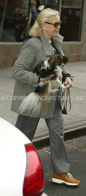WWW.ACEPIXS.COM ** ** ** ....NEW YORK, NOVEMBER 18, 2004....Lauren Bacall leaving her midtown hotel.....Please byline: Philip Vaughan -- ACE PICTURES... *** ***  ..Ace Pictures, Inc:  ..Alecsey Boldeskul (646) 267-6913 ..Philip Vaughan (646) 769-0430..e-mail: info@acepixs.com..web: http://www.acepixs.com