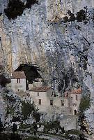 Europe/France/Languedoc-Roussillon/66/Pyrénées -Orientales/Env de Saint-Paul-de-Fenouillet : Ermitage de Galamus