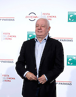 Il regista irlandese Jim Sheridan posa durante un photocall per la presentazione del film &quot;The Secret Scripture&quot; al Festival Internazionale del Film di Roma, 18 ottobre 2016.<br /> Irish Jim Sheridan poses for a photocall to present the movie &quot;The Secret Scripture&quot; during the international Rome Film Festival at Rome's Auditorium, 18 October 2016.<br /> UPDATE IMAGES PRESS/Isabella Bonotto