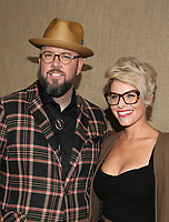 HOLLYWOOD, CA - OCTOBER 10: Chris Sullivan, Rachel Reichard, at The Los Angeles Premiere of HBO's Camping at Paramount Studios in Hollywood, California on October 10, 2018. Credit: Faye Sadou/MediaPunch